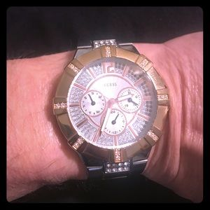 Guess silver/gold watch
